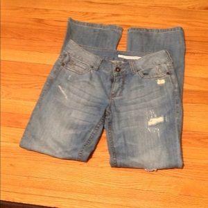 Dkny distressed wide leg jeans women Sz: 10